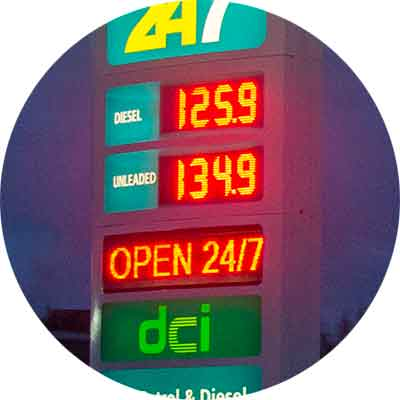 Great Gas Petrol/Gas Price Sign
