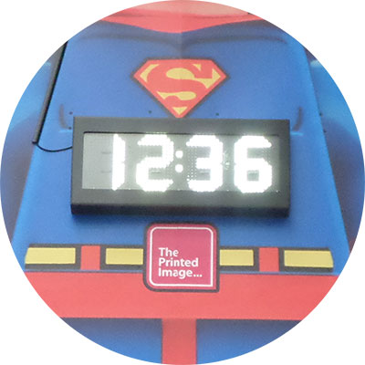 Timeline LED Time Clock Display